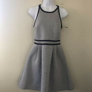 Gray Halter Fit Flare Dress Size XL